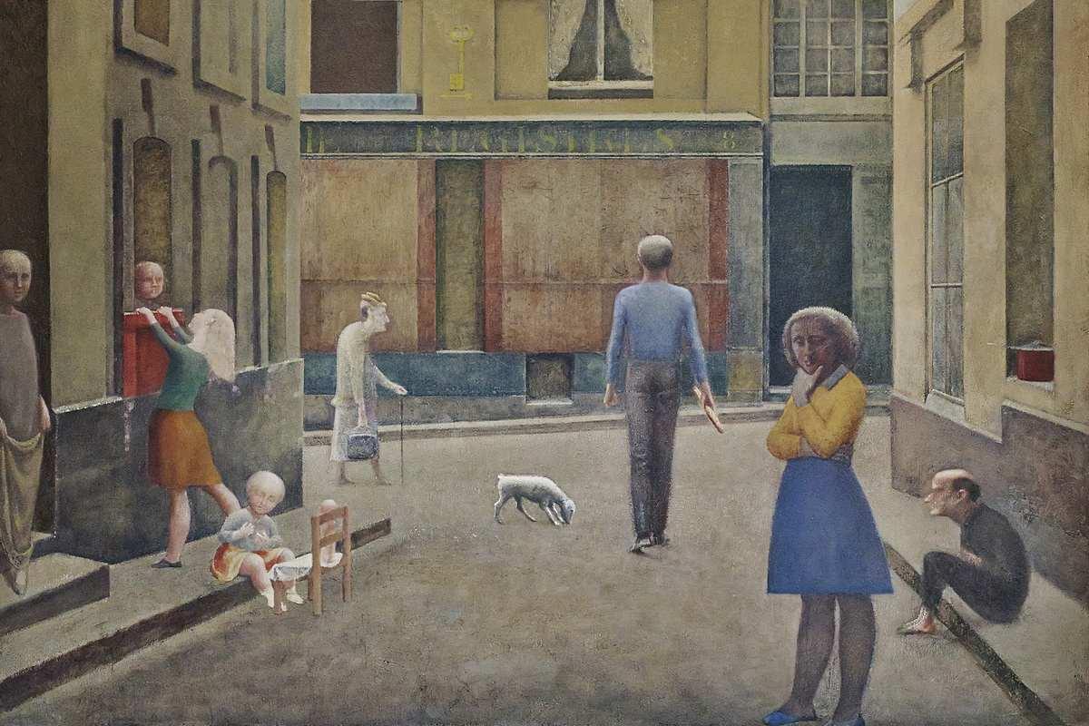 Balthus - Passage Du Commerce-Saint-André, detail