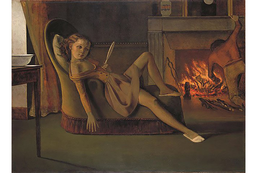 balthus artist painting klossowski cat french girl study modern
