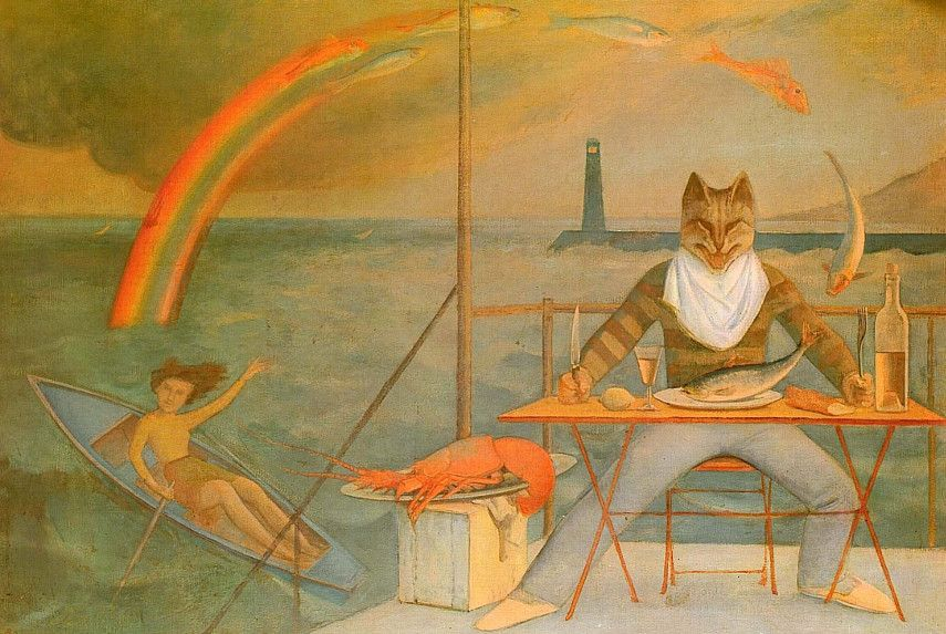 Balthus - The Mediterranean World Cat, 1949