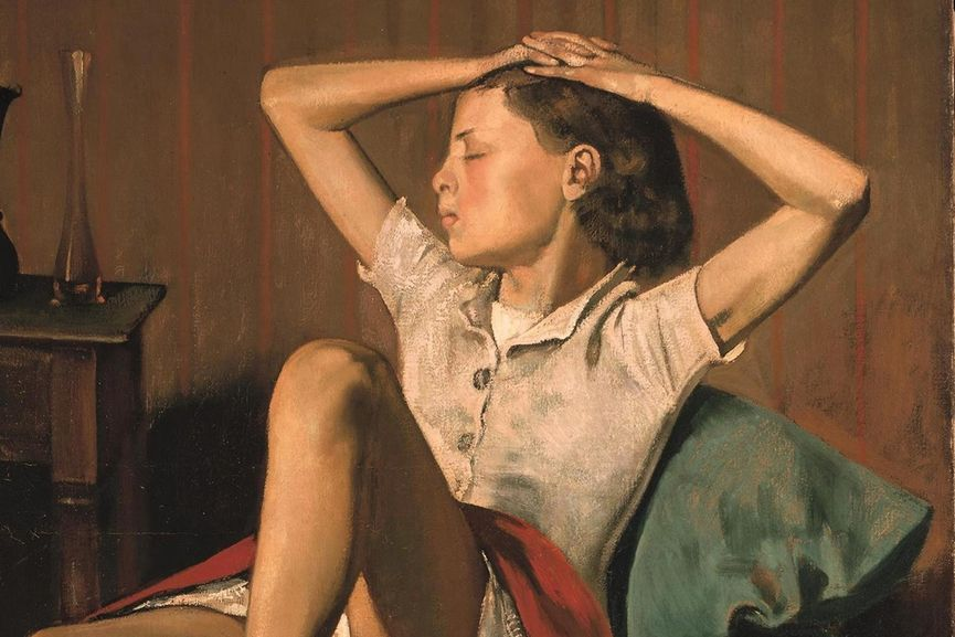 Balthus - Therese Dreaming (detail)