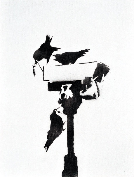 Banksy - Angry Crows, 2003 (40 x 30 cm)