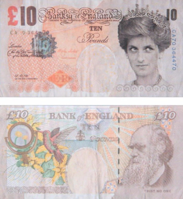 Banksy-Di Faced Tenner (Banksy of England, 10 pounds)-2004