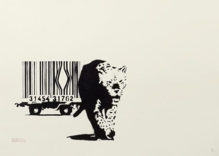 Banksy-Barcode (Leopard)-2004