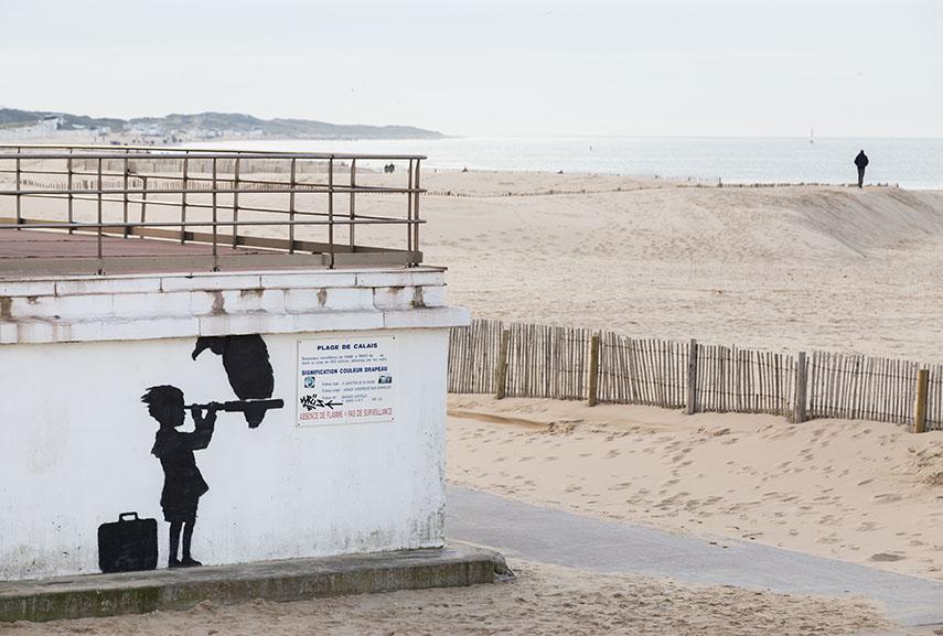 Banksy, Calais, France 2015 ©Frédéric Collier
