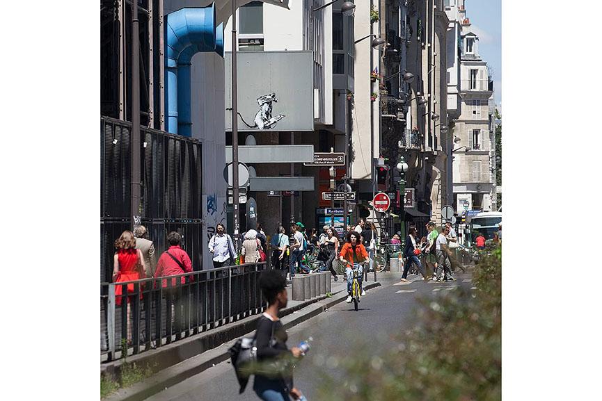 Banksy Centre Pompidou Paris 2018