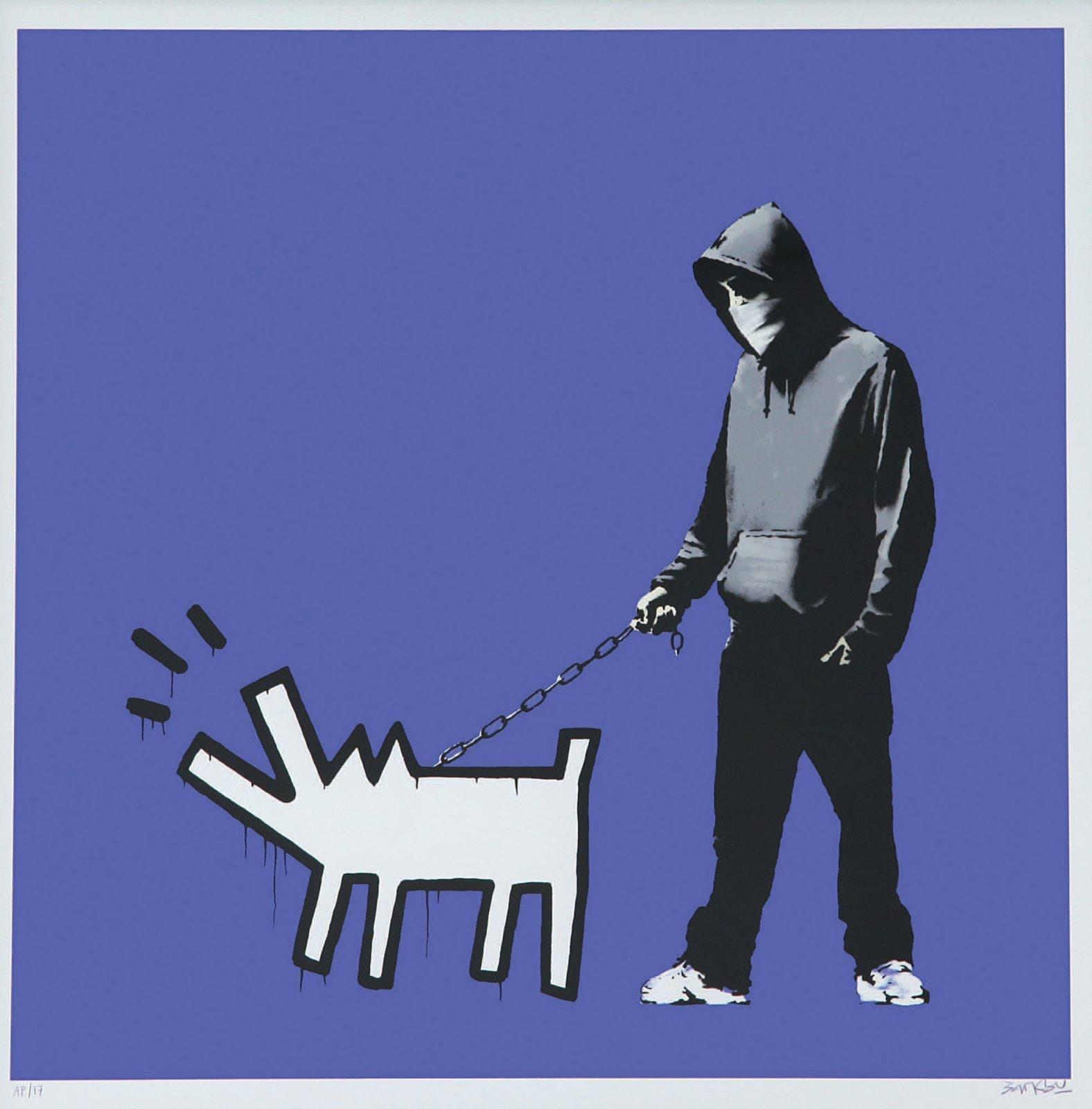Banksy-Choose Your Weapon (Dark Purple)-2010
