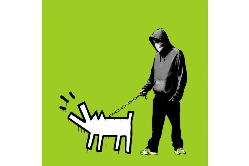 Banksy - Choose Your Weapon, Green, 2010