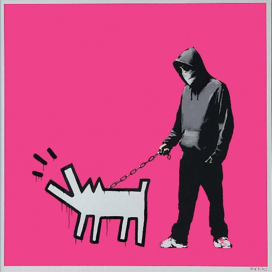 Banksy - Choose Your Weapon - Magenta, 2010 (70 x 70 cm)