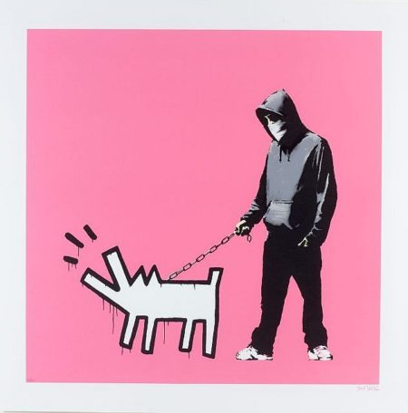 Banksy-Choose your Weapon (Bright Pink)-2010
