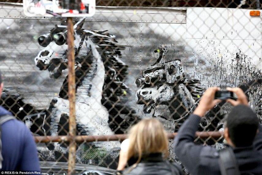 Banksy - Crazy Horses (detail), New York 2013
