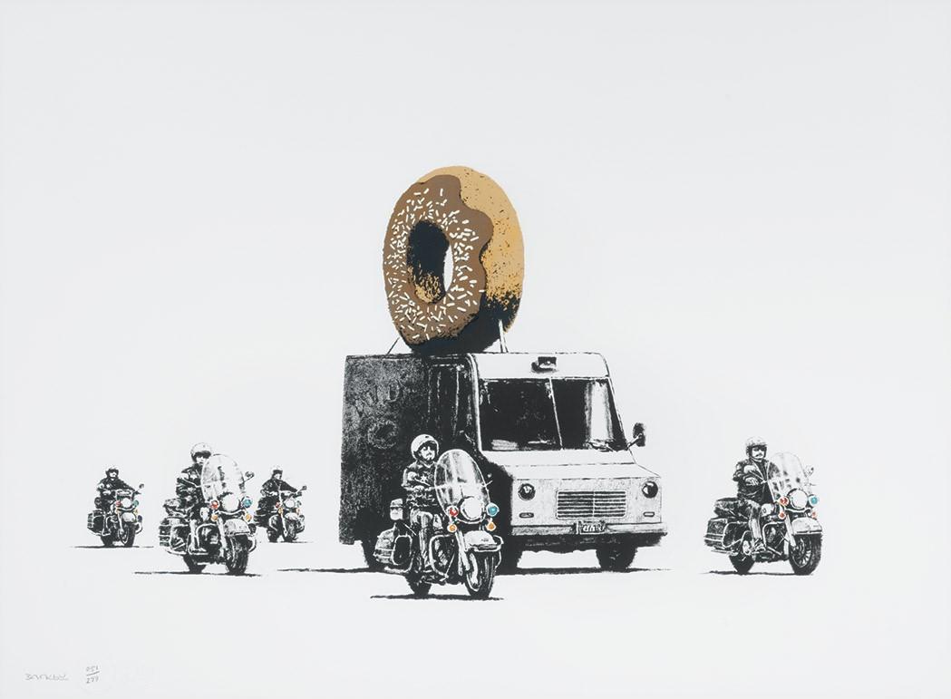 Banksy-Donuts (Chocolate)-2009
