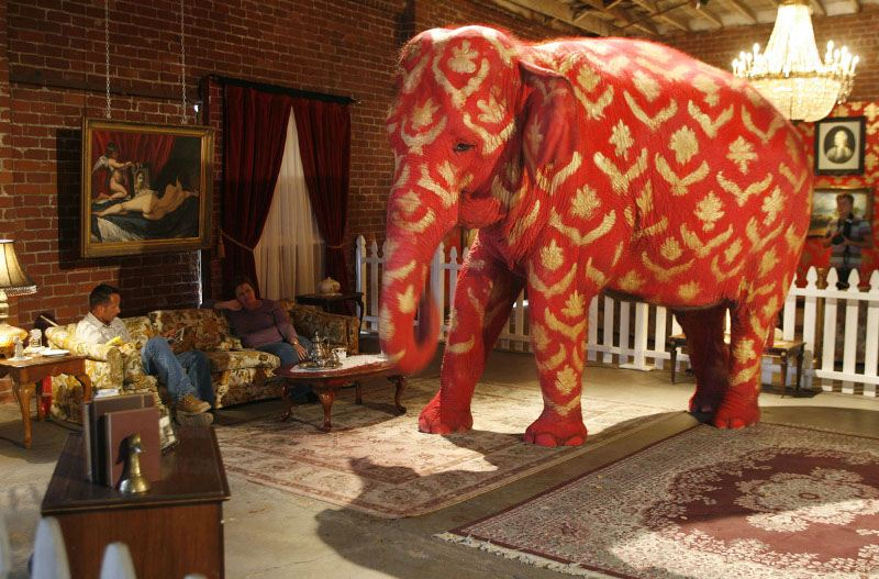 Banksy – Elephant in the Room, LA, 2006, new work old world