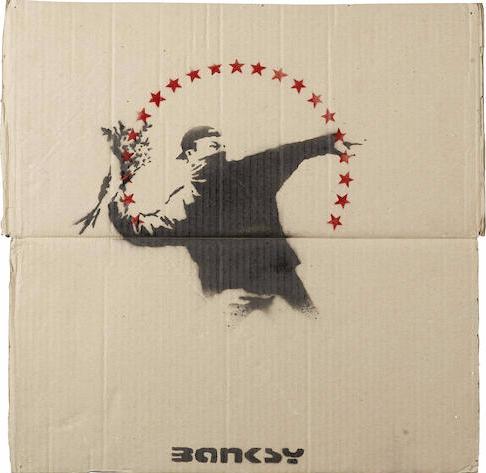 Banksy-Flower Chucker-2003