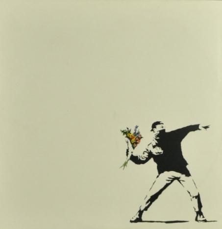 Banksy-Flower Thrower-
