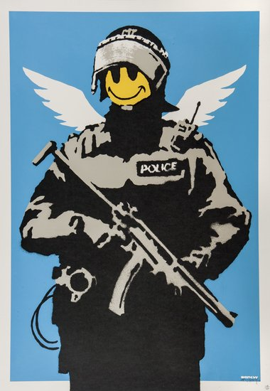 Banksy-Flying Copper-2005