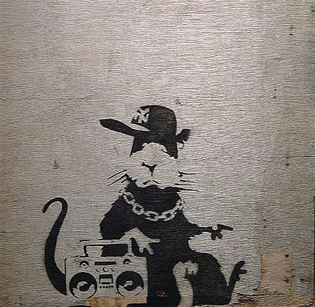 Banksy-Gangsta Rat-2004