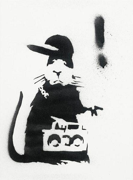 Banksy-Gangster Rat-2004