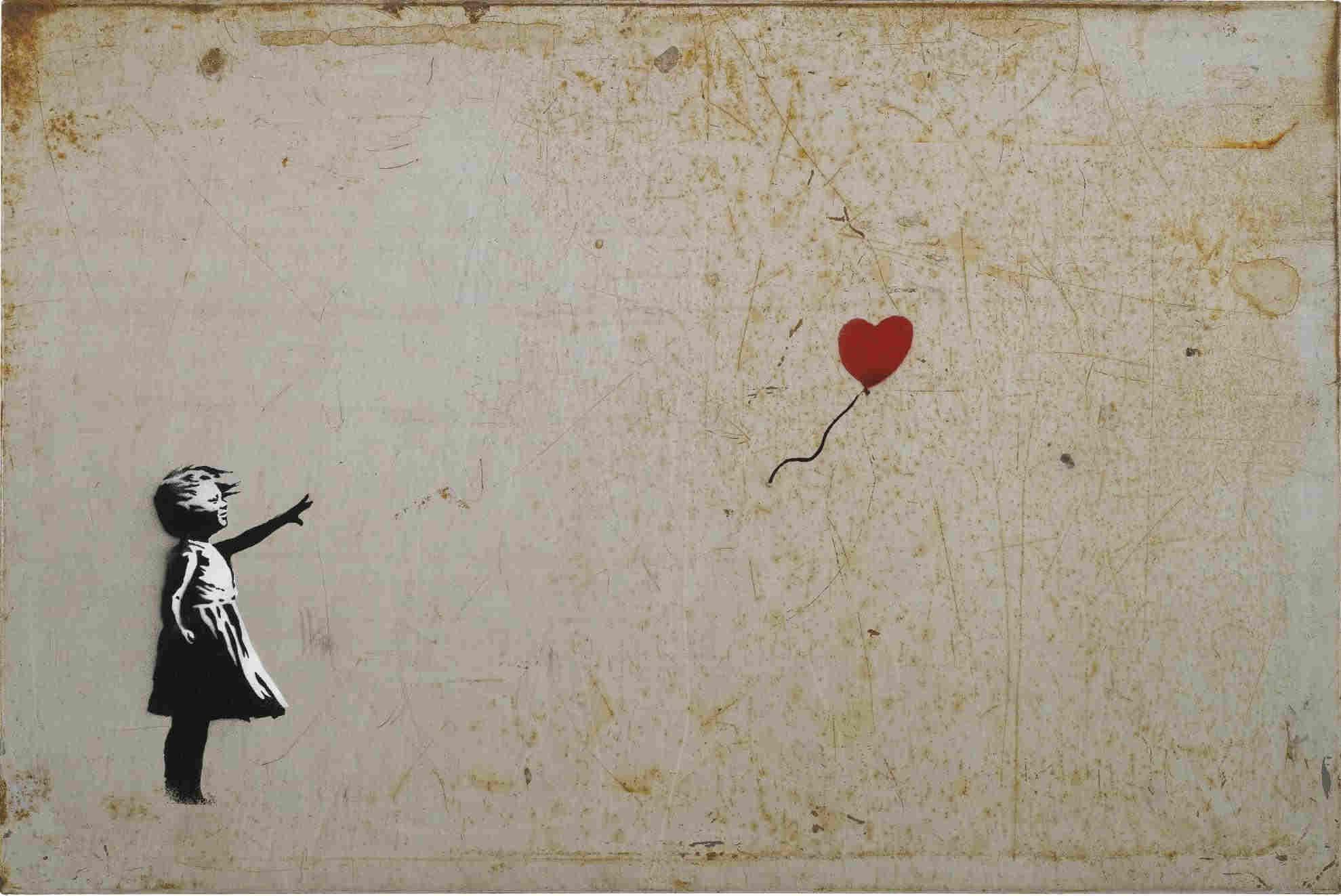 Banksy-Girl and Balloon-2005