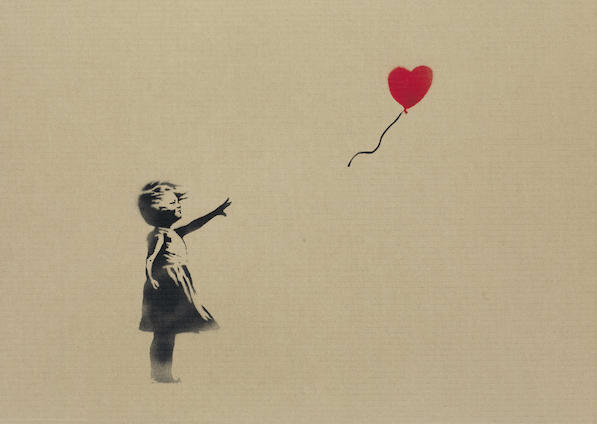 Banksy-Girl and Balloon-2009
