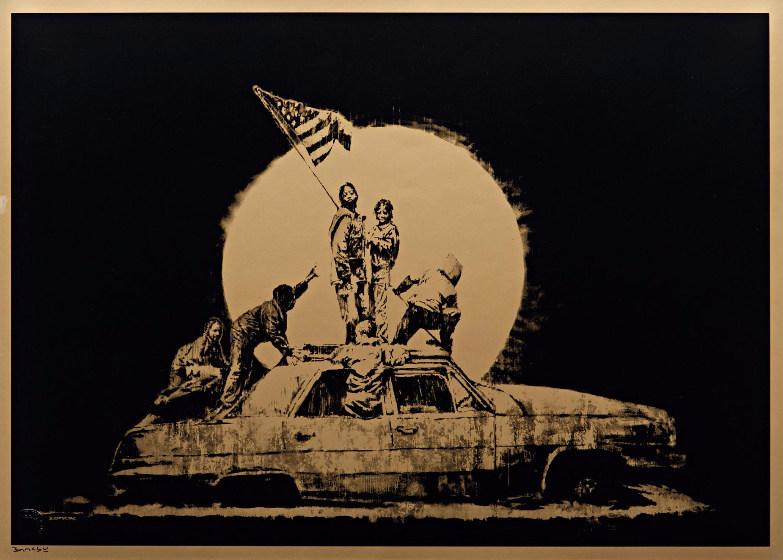 Banksy-Gold Flag-2007