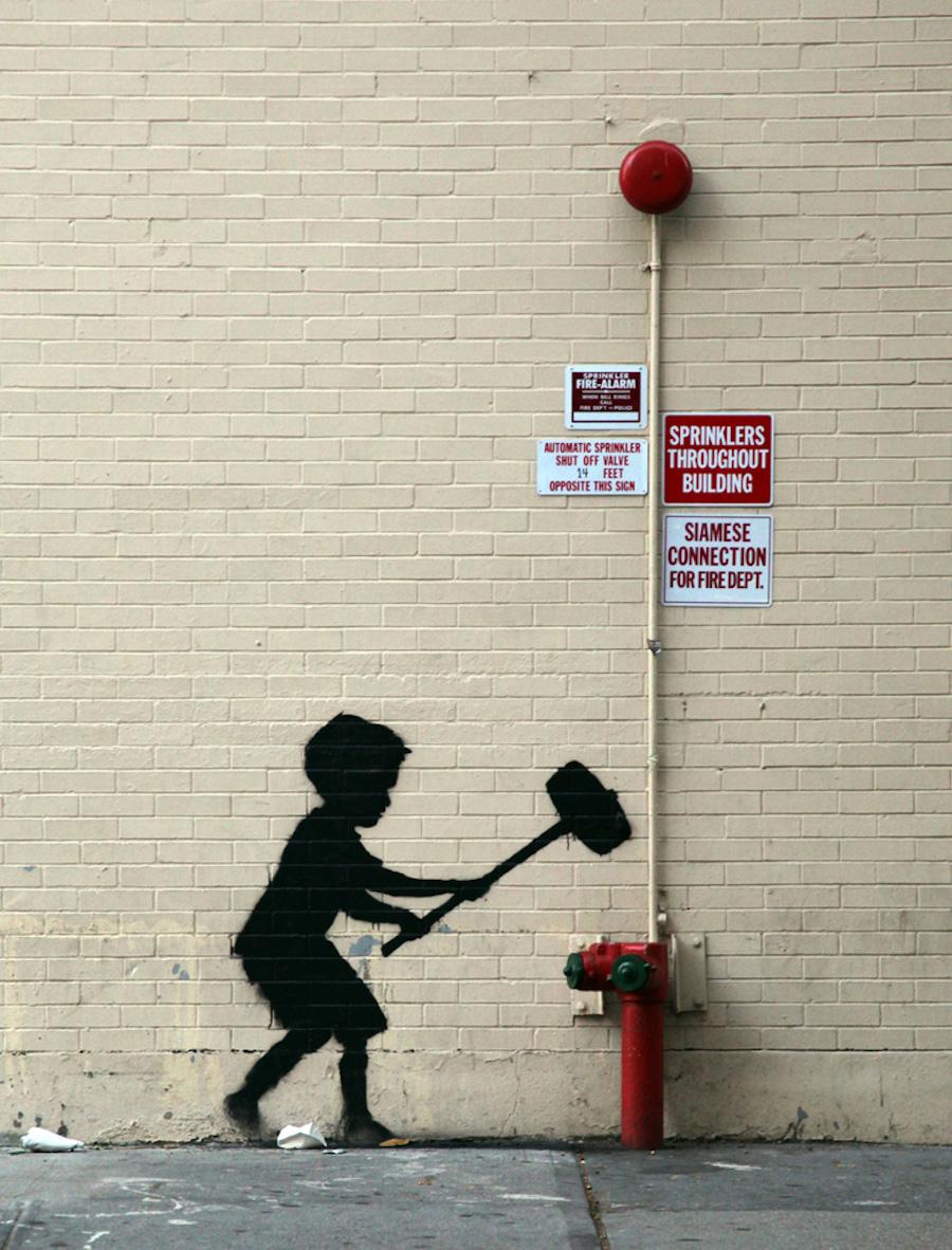 Banksy stencil