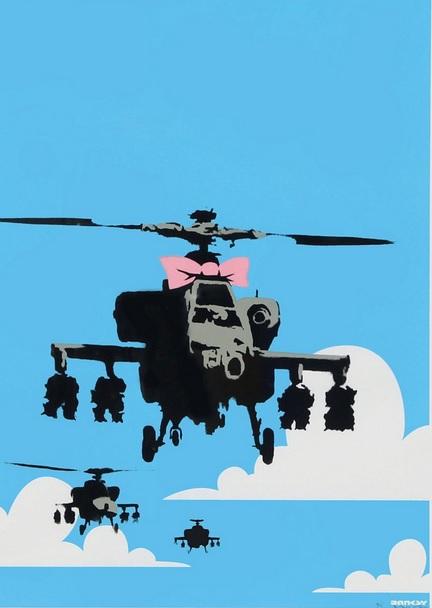 Banksy - Happy Choppers - AP, 2003 (70 x 50 cm)