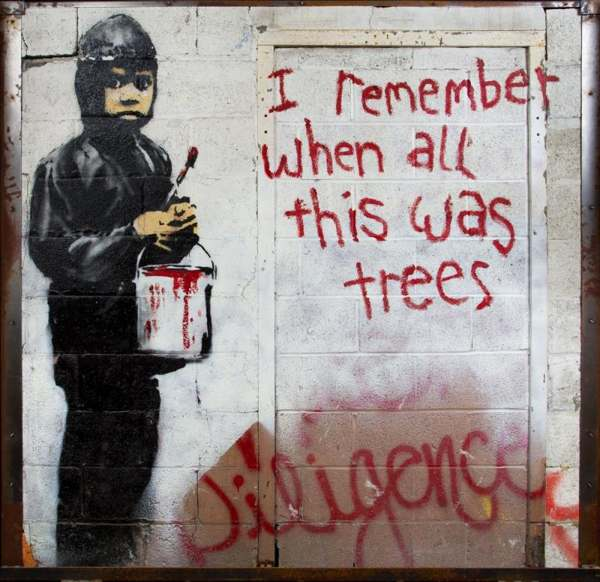 Banksy-I Remember When All This Was Trees-