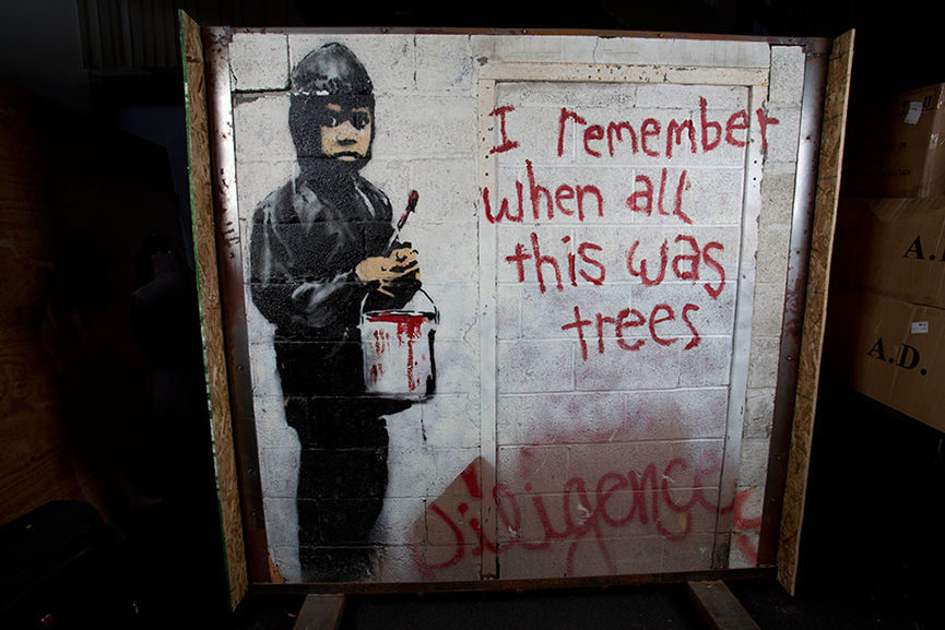 Banksy, news, Painted, Murals Auction Sale 2015, video, contact, july