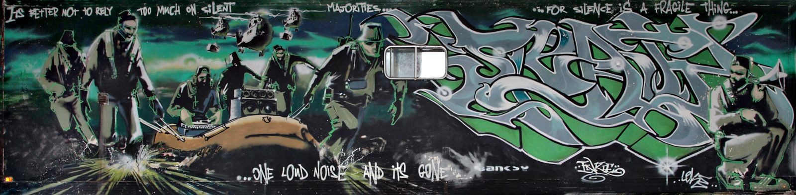 Banksy-Inkie-Banksy & Inkie - Silent Majority-1998