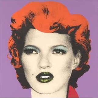 Banksy-Kate Moss (Purple and Orange)-2005