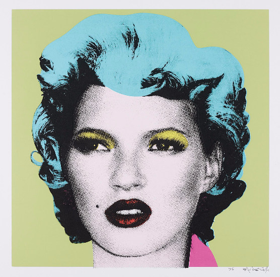 Banksy-Kate Moss, Green, Turqoise Hair-2005