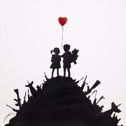 Banksy-Kids on Guns-2003