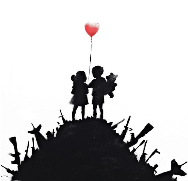 Banksy-Kids on Guns-2013