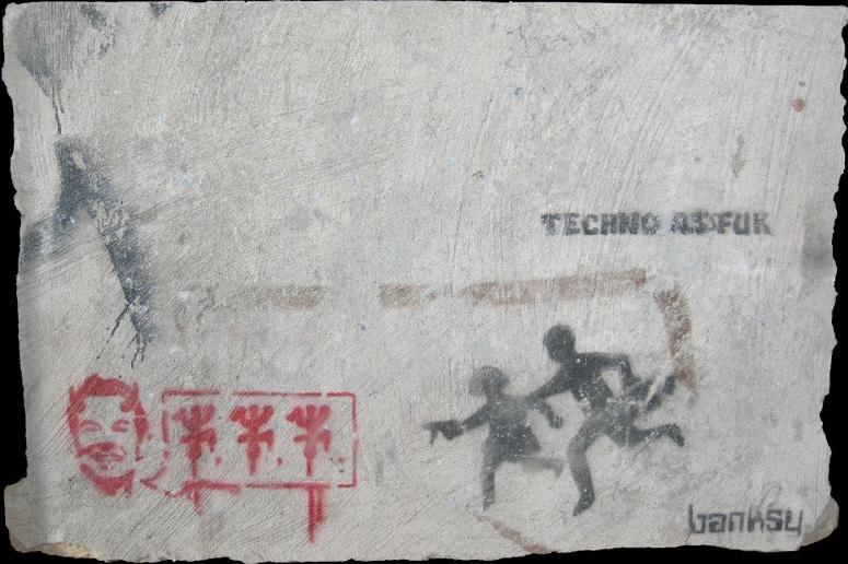 Banksy-Kids with Guns-