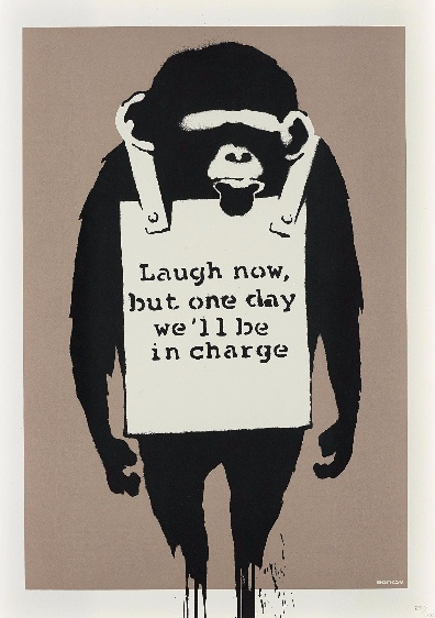 Banksy-Laugh Now (Unsigned Edition)-2003