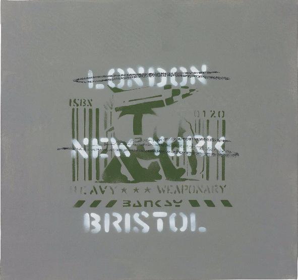 Banksy-London, New York, Bristol (Heavy Weaponry)-2003