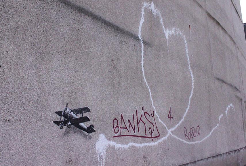 Banksy - Love Plane, via Wikipedia