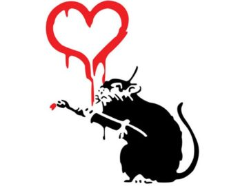 Banksy - Love Rat; instead of printable projects of or crafts