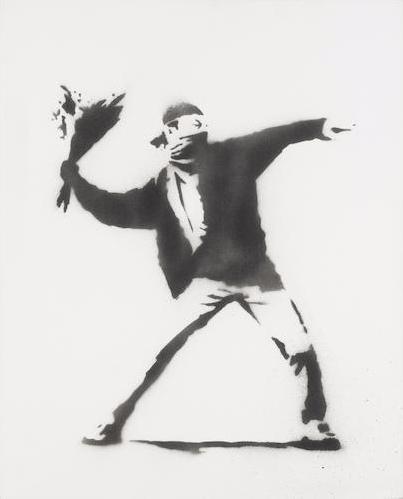 Banksy-Love is in the Air-2001