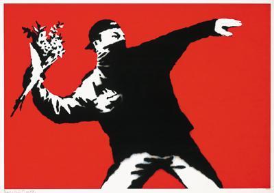 Banksy-Love is in the Air-2003