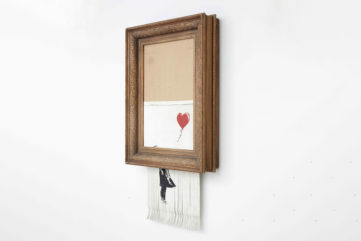 Banksy's Shredded Painting On View in a Germany Exhibition