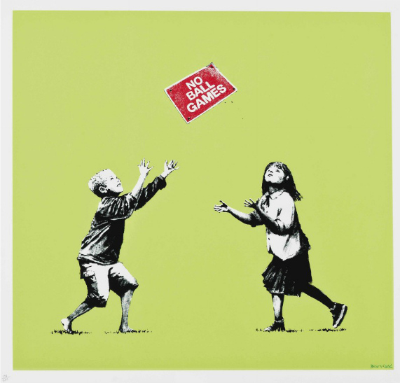 Banksy-No Ball Games-2009