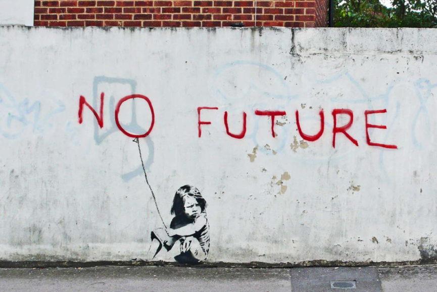 Banksy – No Future | Widewalls