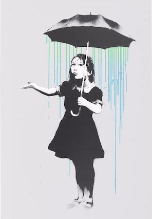 Banksy-Nola (Pea Green, Blue Rain)-2008