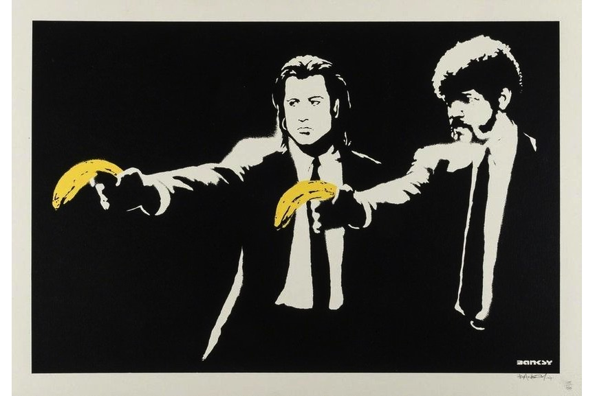 Banksy - Pulp Fiction, 2004