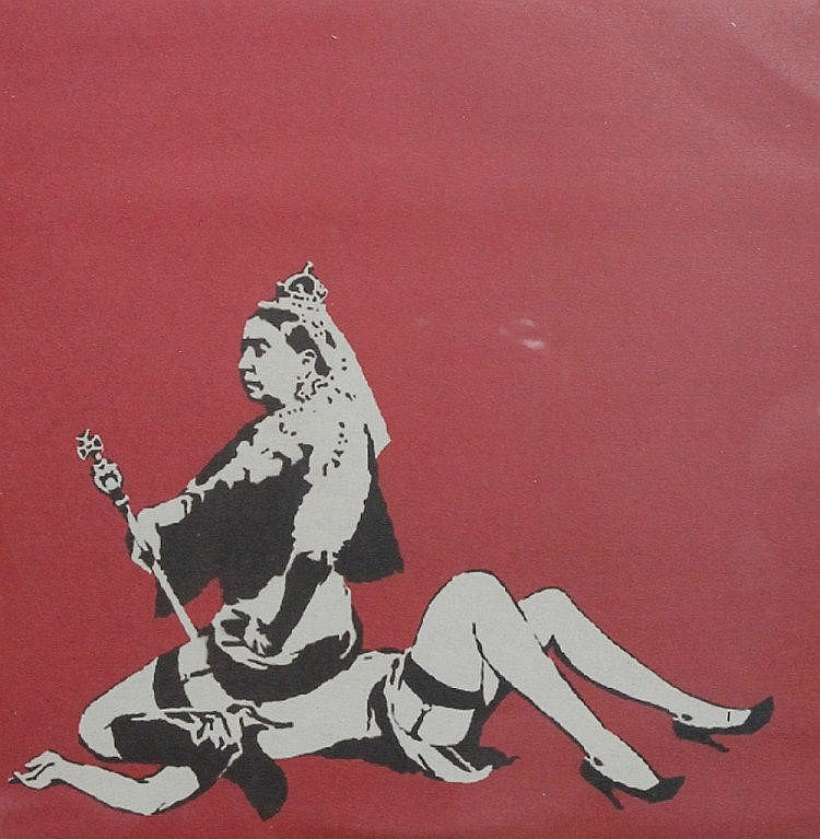 Banksy-Queen Lesbian, Disque Vinyle Collector-