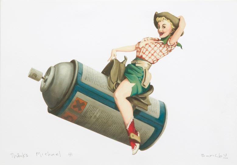 Banksy-Rodeo Girl-