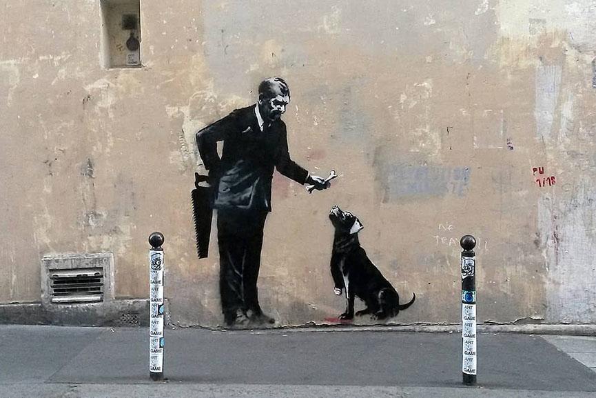 Banksy Sorbonne Paris 2018