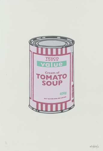 Banksy-Soup Can, Lilac, Cherry, Mint-2005