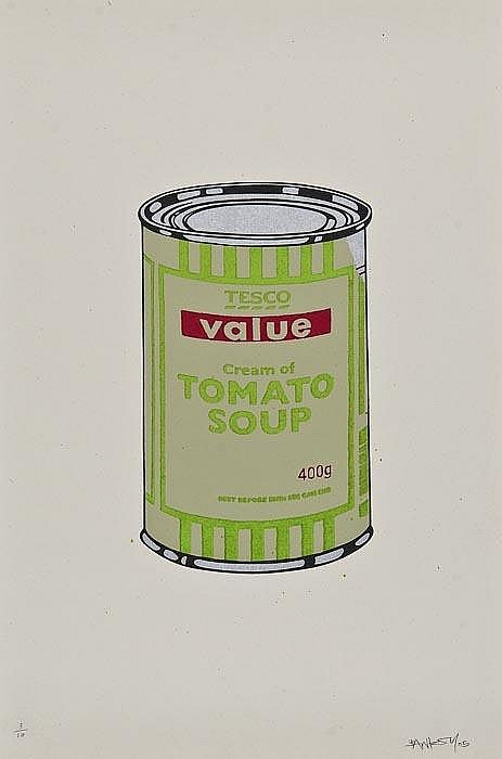 Banksy-Soup Can (Sage, Lime and Cherry)-2005